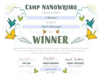 Camp Nano Cert